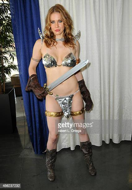 Actress Maitland Ward dressed as Red Sonja from Marvel Comics at The Long Beach Comic Con held at the Long Beach Convention Center on September 27...