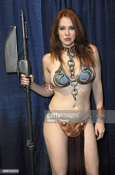 Actress Maitland Ward dressed as Slave Leia at the Long Beach ComicCon 2015 held at Long Beach Convention Center on September 12 2015 in Long Beach...