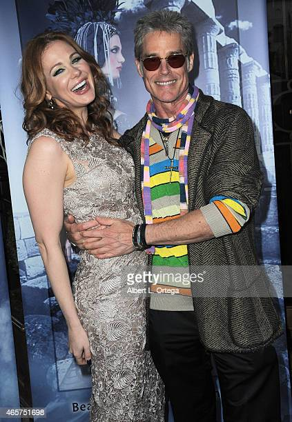 Actress Maitland Ward in Sue Wong and actor Ron Moss attend the Art Hearts Fashion Opening Night with Sue Wong's Runway Fashion Show Mythos And...