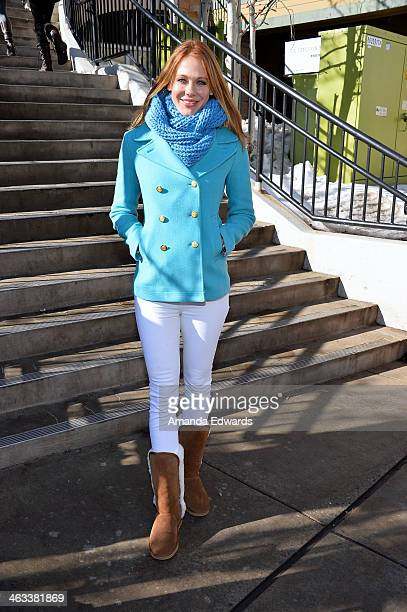 Actress Maitland Ward is seen at the Sundance Film Festival on January 17 2014 on the streets of Park City Utah