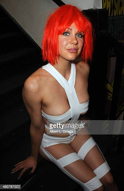 Actress Maitland Ward portrays LeeLoo from Luc Besson's film The Fifth Element at Meltdown Comics on May 30 2014 in Hollywood California
