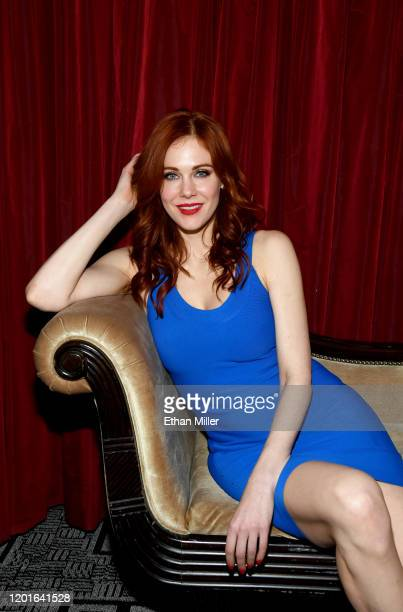 Actress Maitland Ward poses at the 2020 AVN Adult Entertainment Expo at the Hard Rock Hotel Casino on January 23 2020 in Las Vegas Nevada