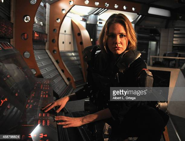 "Actress Maitland Ward poses during a pre-production photocall for ""Descent Into The Maelstrom"" on set at Morphius Studios on November 10, 2014 in..."