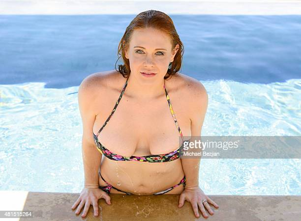 Actress Maitland Ward poses for portrait at Celebrities Visit The SAP The Starving Artists Project on July 19 2015 in Los Angeles California