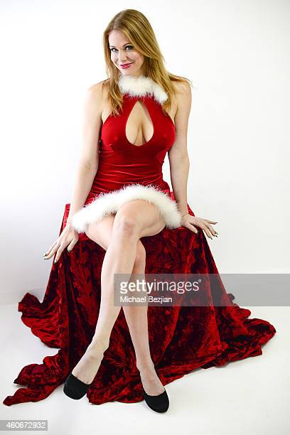 Actress Maitland Ward poses for portrait at Maitland Ward Visits The Starving Artists Project on December 18 2014 in Los Angeles California