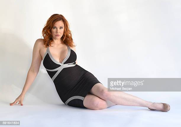 Actress Maitland Ward poses for portrait at The Cast Of All Out Dysfunktion Visits The Starving Artists Project on August 17 2016 in Los Angeles...