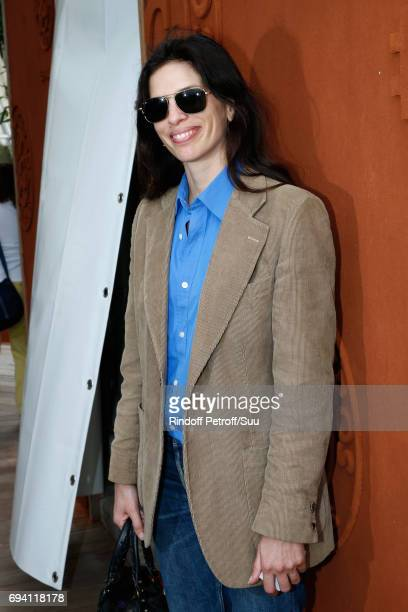 Actress Maiwenn le Besco attends the 2017 French Tennis Open Day Thirteen at Roland Garros on June 9 2017 in Paris France