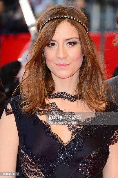 Actress Maja Ostaszewska attends 'In the Name of' Premiere during the 63rd Berlinale International Film Festival at Berlinale Palast on February 8...
