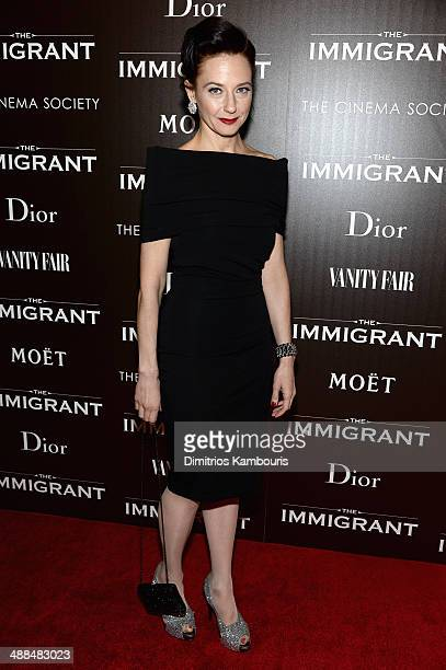 Actress Maja Wampuszyc attends the Dior Vanity Fair with The Cinema Society premiere of The Weinstein Company's 'The Immigrant' at The Paley Center...