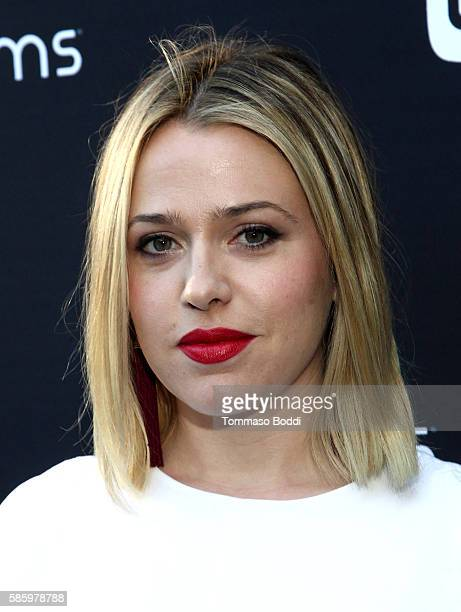 Actress Majandra Delfino attends the 4moms Car Seat launch event at  Petersen Automotive Museum on August 9588a733e56e
