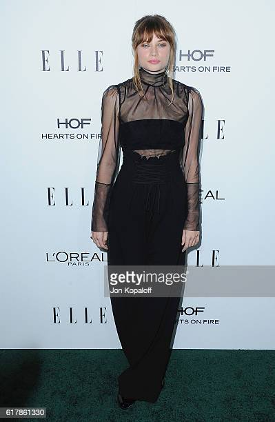 Actress Makenzie Leigh arrives at the 23rd Annual ELLE Women In Hollywood Awards at Four Seasons Hotel Los Angeles at Beverly Hills on October 24...