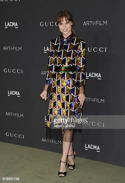 Actress Makenzie Leigh attends the 2016 LACMA Art Film gala at LACMA on October 29 2016 in Los Angeles California