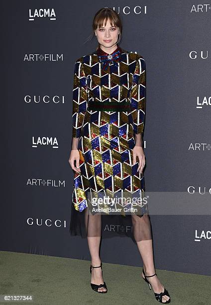 Actress Makenzie Leigh attends the 2016 LACMA Art Film Gala honoring Robert Irwin and Kathryn Bigelow presented by Gucci at LACMA on October 29 2016...