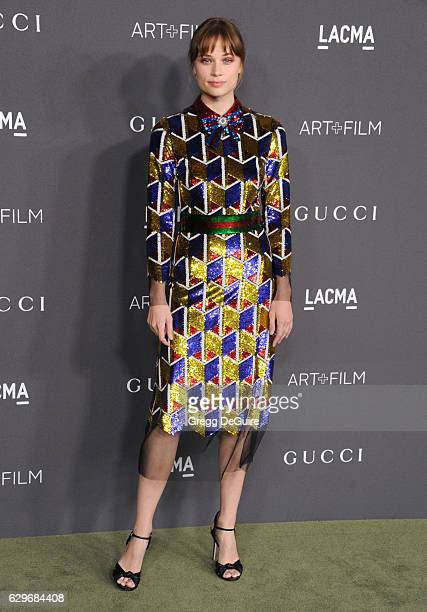 Actress Makenzie Leigh wearing Gucci arrives at the 2016 LACMA Art Film Gala Honoring Robert Irwin And Kathryn Bigelow Presented By Gucci at LACMA on...