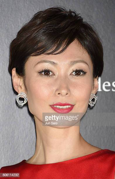 Actress Maki Tamaru attends the event for SKII Change Destiny Forum at the Prince Park Tower on January 21 2016 in Tokyo Japan