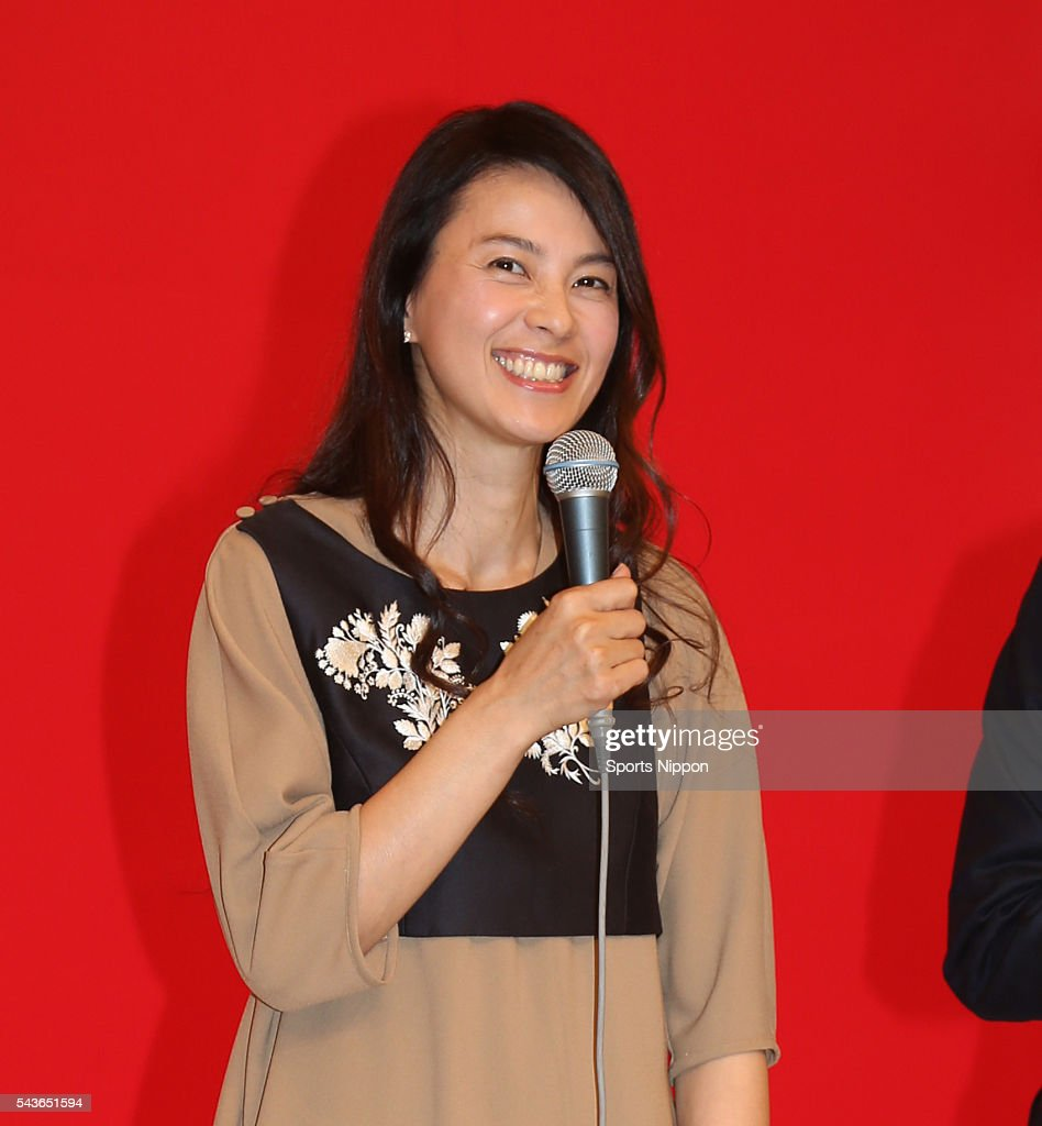 Actress Makiko Esumi attends the Nippon TV special program