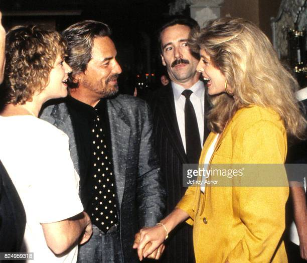 Actress Malanie Griffith Actor Don Johnson and Donald Trumps Friend Marla Maples at Trump Castle Casino Hotel in Atlantic City, New Jersey November 1...