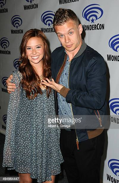 Actress Malese Jow and actor Jesse Luken promote the CW's 'StarCrossed' at WonderCon Anaheim 2014 Day 1 held at Anaheim Convention Center on April 18...