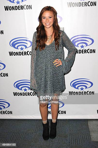 Actress Malese Jow promotes the CW's 'StarCrossed' at WonderCon Anaheim 2014 Day 1 held at Anaheim Convention Center on April 18 2014 in Anaheim...