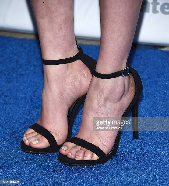 Actress Malese Jow shoe detail arrives at The Actors Fund's 2016 Looking Ahead Awards at Taglyan Complex on December 6 2016 in Los Angeles California