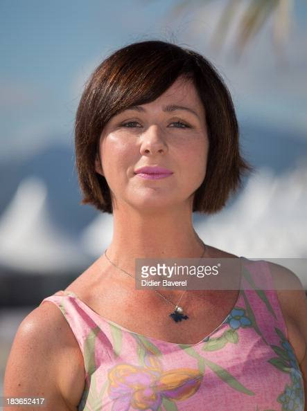 Actress Mali Harries poses during the photocall of the Tv