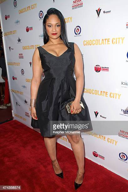Actress Maliah Michel attends Chocolate City movie premiere at Crest Theatre on May 21 2015 in Westwood California