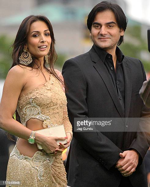Actress Malika Arora Khan and Arbaaz Khan attend the IIFA Awards green Carpet held at the Rogers Centre on June 25 2011 in Toronto Canada