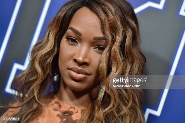 Actress Malika Haqq attends ROOKIE USA Fashion Show at Milk Studios on February 15 2018 in Los Angeles California