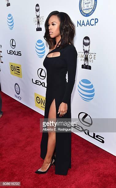 Actress Malika Haqq attends the 47th NAACP Image Awards presented by TV One at Pasadena Civic Auditorium on February 5 2016 in Pasadena California
