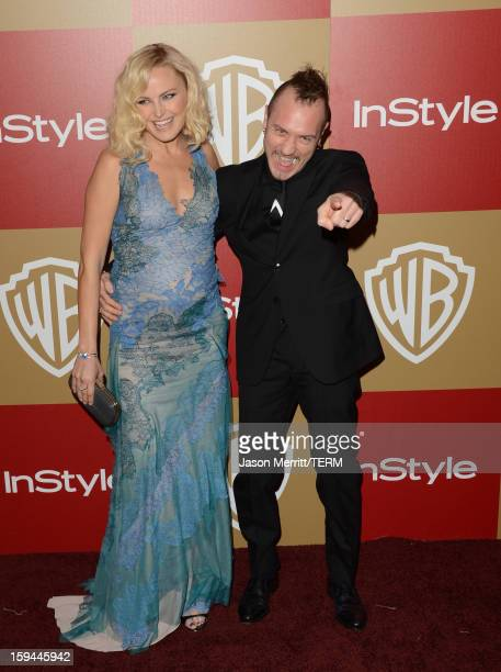 Actress Malin Ackerman and guest attend the 14th Annual Warner Bros And InStyle Golden Globe Awards After Party held at the Oasis Courtyard at the...