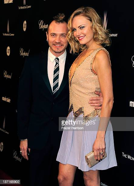 Actress Malin Ackerman and Roberto Zincone arrive at The Weinstein Company's 2012 Golden Globe Awards After Party held at The Beverly Hilton hotel on...