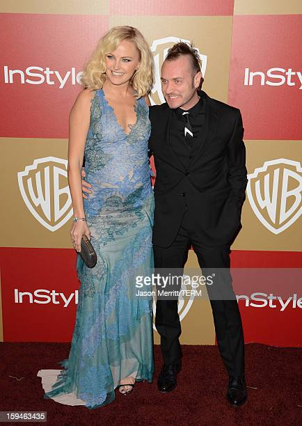 Actress Malin Ackerman and Roberto Zincone attend the 14th Annual Warner Bros And InStyle Golden Globe Awards After Party held at the Oasis Courtyard...