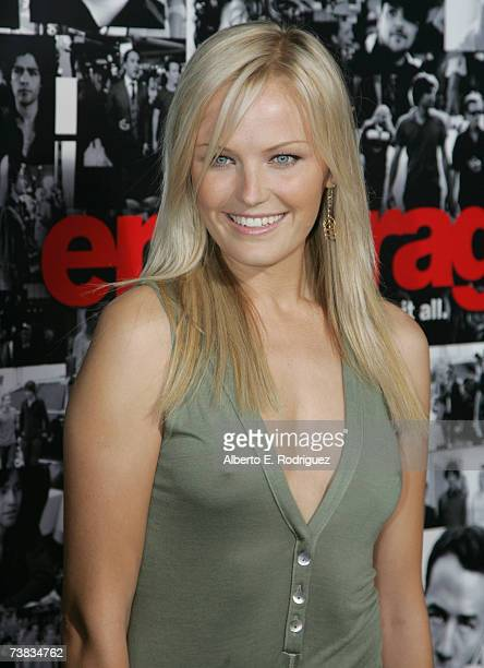 Actress Malin Ackerman arrives at the premiere of the HBO original series ENTOURAGE on April 05 2007 in Los Angeles California