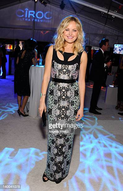 Actress Malin Ackerman attends CIROC Vodka at 20th Annual Elton John AIDS Foundation Academy Awards Viewing Party at The City of West Hollywood Park...