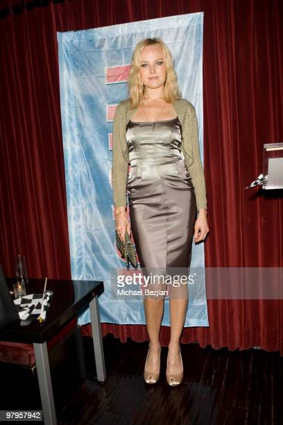 Actress Malin Ackerman attends The Rally For Kids With Cancer Scavenger Cup Reception at Beso on March 22 2010 in Hollywood California