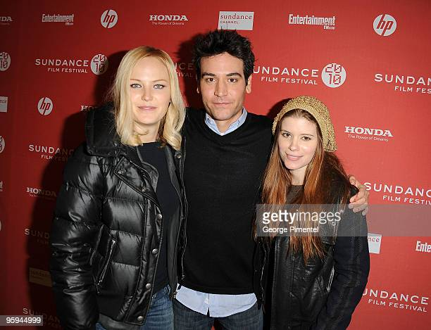 Actress Malin Ackerman director Josh Radnor and actress Kate Mara attend the happythankyoumoreplease Premiere at Eccles Center Theatre during the...