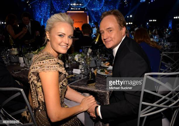Actress Malin Akerman and actor Bradley Whitford attend the 20th Annual Screen Actors Guild Awards at The Shrine Auditorium on January 18 2014 in Los...