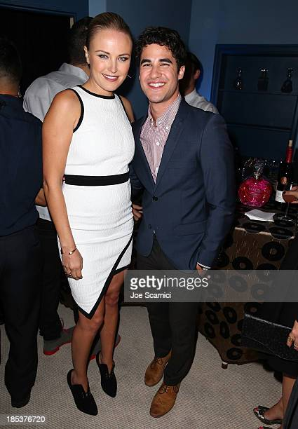 Actress Malin Akerman and actor/singer Darren Criss attend the 23rd Annual Environmental Media Awards presented by Toyota and Lexus at Warner Bros...