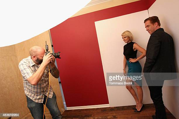 Actress Malin Akerman and Damian Lewis of Showtime's 'Billions' attend Behind The Scenes Of The Getty Images Portrait Studio Powered By Samsung...