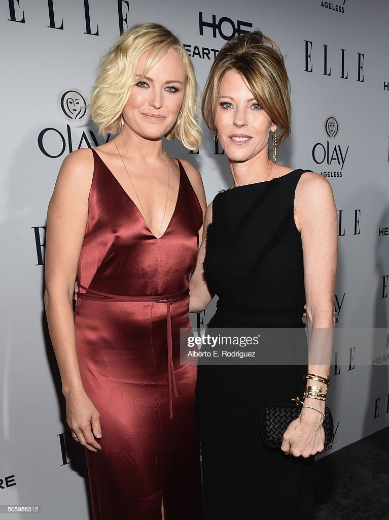 Actress Malin Akerman (L) and ELLE's Editor-In-Chief Robbie Myers attends ELLE's 6th Annual Women in Television Dinner Presented by Hearts on Fire Diamonds and Olay at Sunset Tower on January 20, 2016 in West Hollywood, California.
