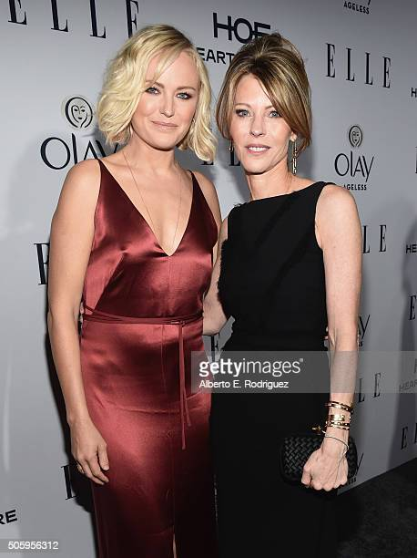 Actress Malin Akerman and ELLE's EditorInChief Robbie Myers attends ELLE's 6th Annual Women in Television Dinner Presented by Hearts on Fire Diamonds...
