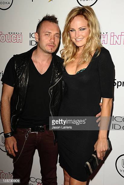 Actress Malin Akerman and husband Roberto Zincone attend In Touch Weekly's 4th annual Icons Idols celebration at Sunset Tower on August 28 2011 in...