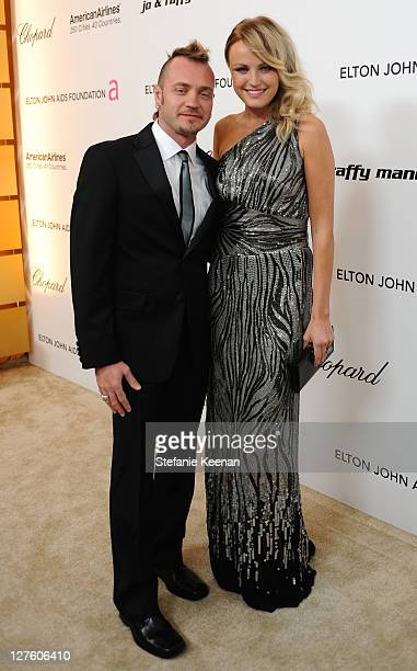 Actress Malin Akerman and musician Roberto Zincone attend the 19th Annual Elton John AIDS Foundation Academy Awards Viewing Party at the Pacific...