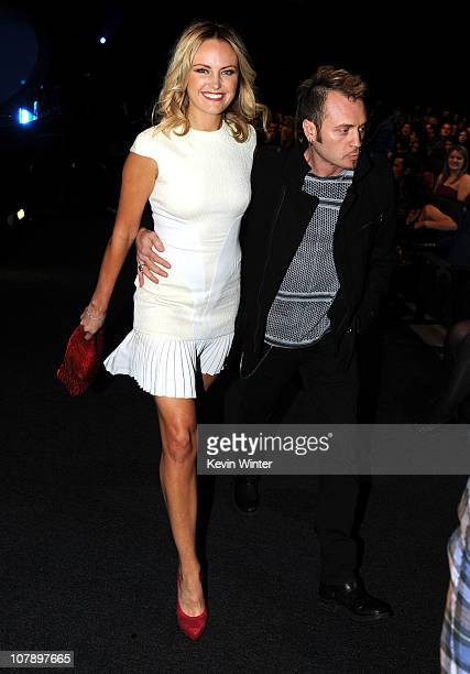 Actress Malin Akerman and musician Roberto Zincone attend the 2011 People's Choice Awards at Nokia Theatre LA Live on January 5 2011 in Los Angeles...