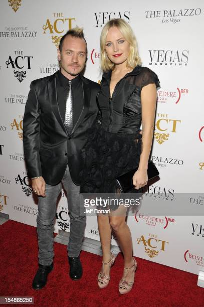 Actress Malin Akerman and Roberto Zincone arrive at Simon Hammerstein's The Act Las Vegas Grand Opening presented by Belvedere Red at The Palazzo on...