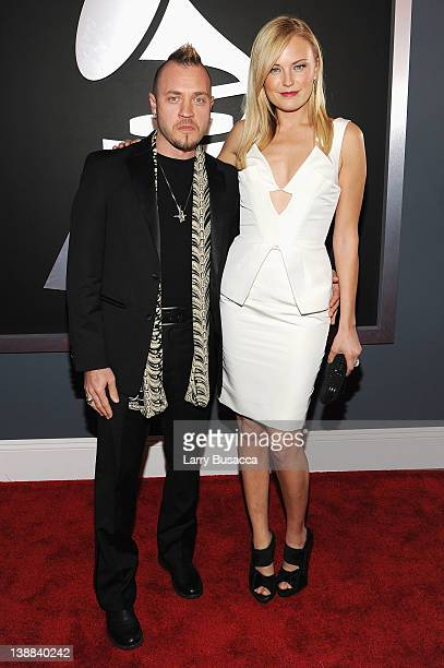 Actress Malin Akerman and Roberto Zincone arrive at the 54th Annual GRAMMY Awards held at Staples Center on February 12, 2012 in Los Angeles,...