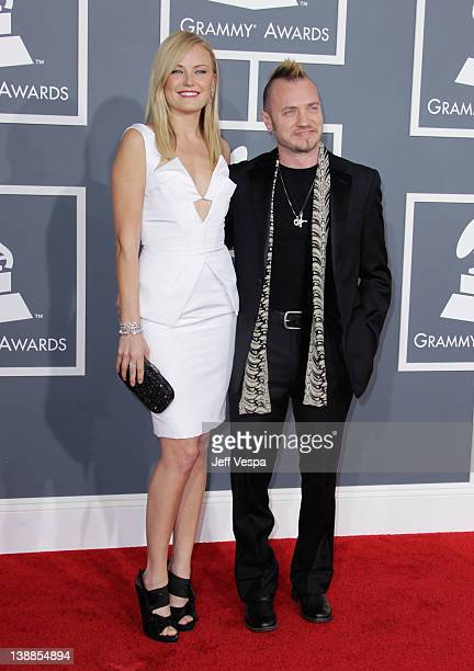 Actress Malin Akerman and Roberto Zincone arrive at The 54th Annual GRAMMY Awards at Staples Center on February 12 2012 in Los Angeles California