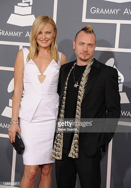 Actress Malin Akerman and Roberto Zincone arrives at The 54th Annual GRAMMY Awards at Staples Center on February 12 2012 in Los Angeles California