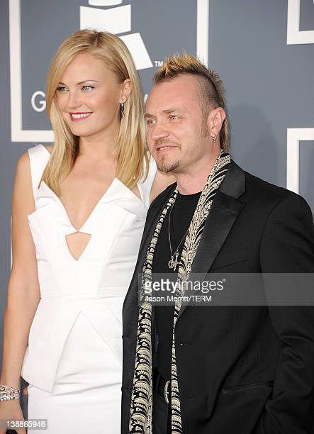 Actress Malin Akerman and Roberto Zincone arrives at the 54th Annual GRAMMY Awards held at Staples Center on February 12 2012 in Los Angeles...