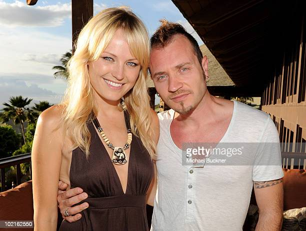 Actress Malin Akerman and Roberto Zincone attend the opening night reception for the 2010 Maui Film Festival at the Capische on June 16, 2010 in...